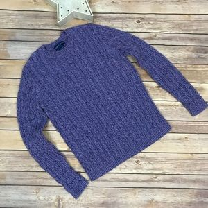 Karen Scott Heavy Knit Purple Sweater Sz M
